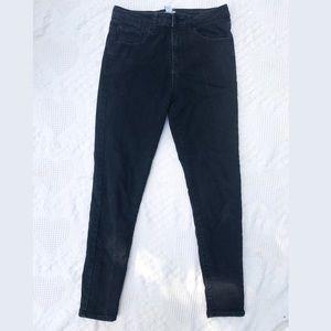 Black denim skills jeans